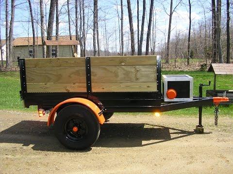 Home made hydraulic dump trailer