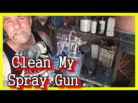 How To:  Clean A Spray Paint Gun - HVLP and Siphon Spray Paint Guns