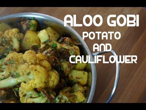 Aloo Gobi Recipe - Indian Potato Cauliflower Fry Vegan Curry