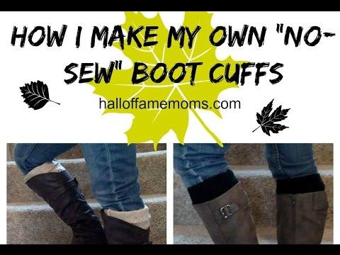 How I make my own NO-SEW Boot Cuffs (DIY no-sew bootcuffs)