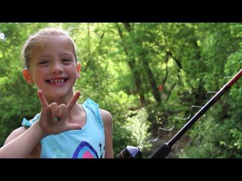 CUTE Little Girl Fishing by Herself!
