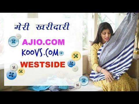 (Hindi) Online shopping haul from Koovs Ajio & Westside India : Kurta & Jeans Try On