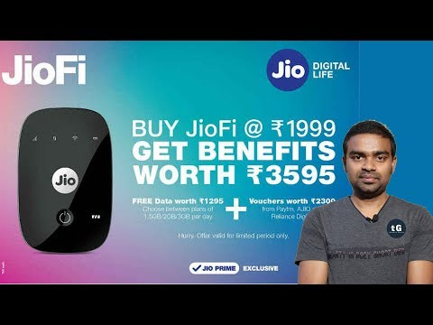Jio 10GB Free Data, JioFi ₹3595 Offer, Xiaomi TV 43inch ₹23799, WhatsApp 68 Minute, Tech Prime124