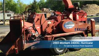 2003 Morbark 2400 XL Hurricane for sale from Newtown Power Equipment CT Mrobark 2400XL