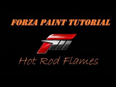 Forza Paint Walkthrough - Hot Rod Style Flames (commentary)