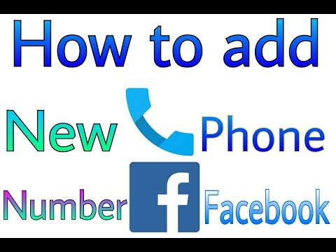 How to add a phone number on Facebook