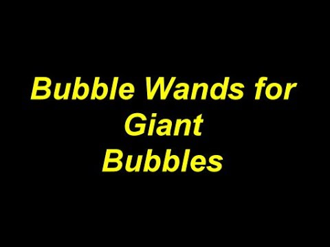 How to make Bubble Wands for Giant Bubbles