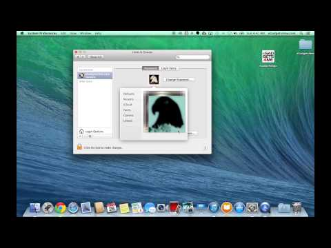 Change Profile Picture on Mac OSX 10.9 Mavericks