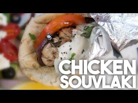 🇬🇷 Chicken SOUVLAKI | BIG FAT GREEK Sandwich | Kravings