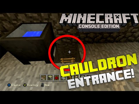 Minecraft: How to Make a Cauldron Secret Base Entrance! [Xbox & Playstation]