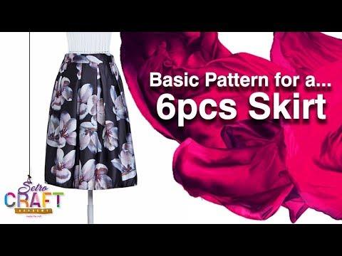 DIY: Basic 6 pieces/Fish Tail/Mermaid Skirt Pattern Drafting [Detailed]