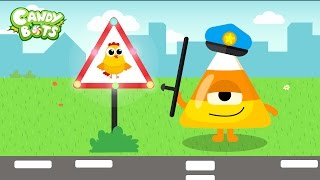 Candy Shape for Kids Part 2 (Candybots) - Apps for Children to learn Circle, Square, Triangle...
