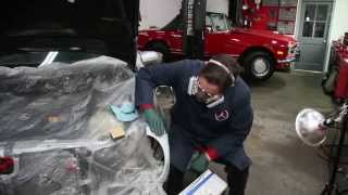 Precision Auto Body Car Dent Repair Initial Filling, Grating and Block Sanding Techniques