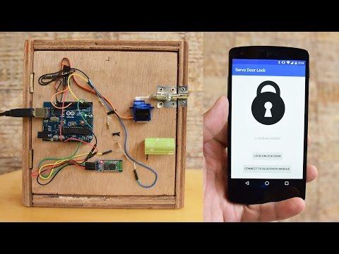 Android-Controlled Arduino Bluetooth Servo Door Lock [TUTORIAL]