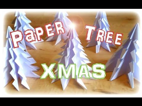 Christmas Paper Tree  Fold - Tutorial