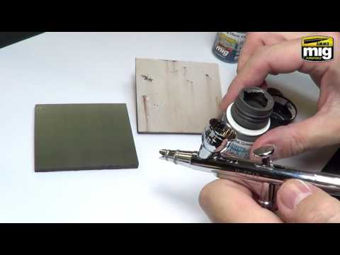 Varnish and chipping effects Canada Hornet Hobbies 2016 how to by Mig Jimenez