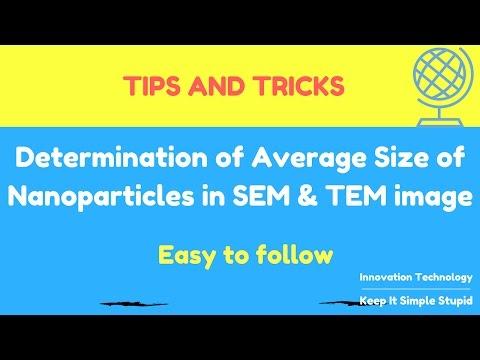 Determine average size of nanoparticles in SEM, TEM image using Image J software