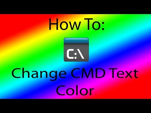 How to Change The CMD Text Color