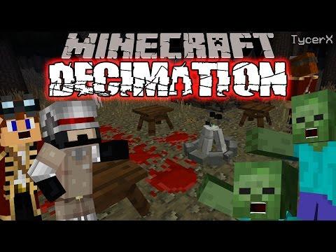 Minecraft Decimation | Zombie Apocalypse (Minecraft DayZ Custom Modpack) Generosity #1
