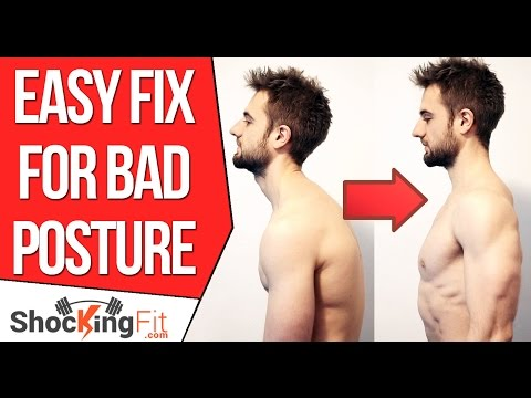 How to Fix Bad Posture - Simple Exercise To Prevent Rounded Shoulders