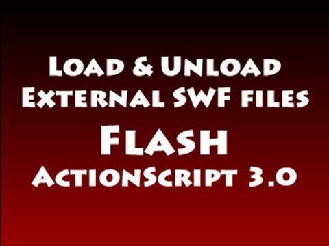 Load Unload Multiple External SWF files Tutorial in Flash ActionScript 3.0 CS3 CS4 CS5.5