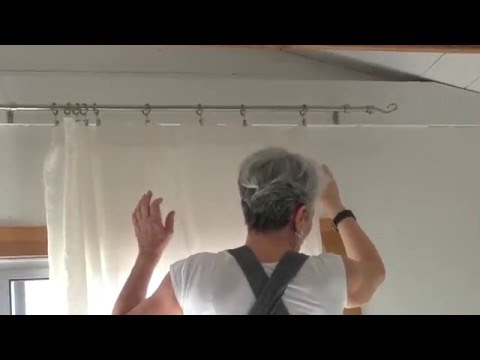 Using Ring Clips to Hang Curtains