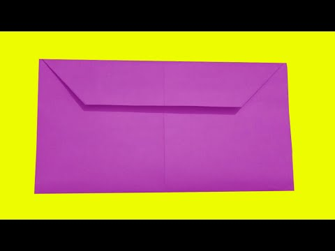 How to make an envelope out of rectangular paper.make some wonderful.