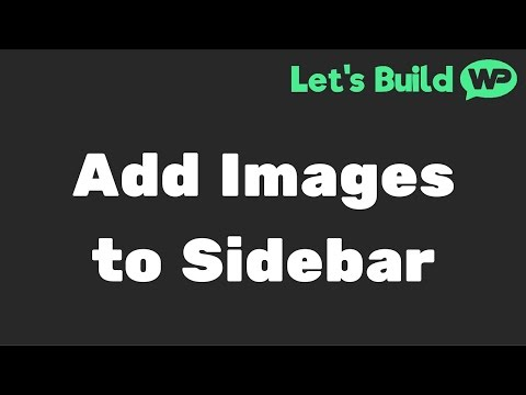 How To Add Images to your WordPress Sidebar and Widget Areas