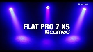 cameo flat pro 7 xs compact flat 7 x 8 watt quad led par cameo hydrabeam 100 rgbw lighting set