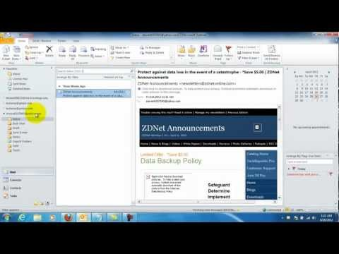 How to Setup Yahoo Mail in Outlook 2010