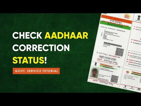 How to check Aadhaar Update/Correction status