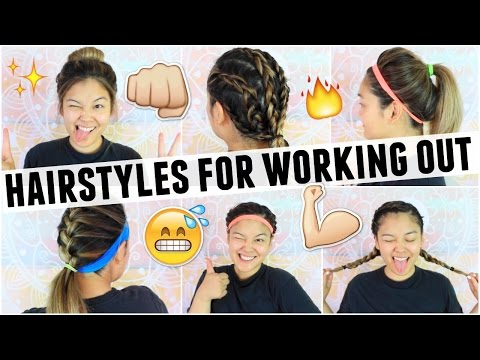 EASY HAIRSTYLES FOR WORKING OUT/GYM CLASS | JaaackJack
