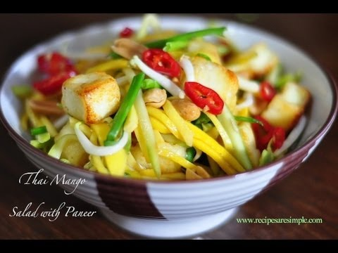 THAI MANGO SALAD | Indian Twist |  RecipesAreSimple