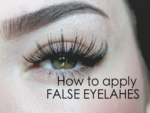 How to put on FALSE EYELASHES ♡ in 60 seconds