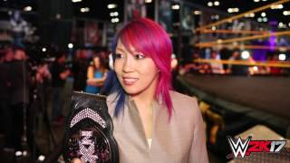 WWE 2K17 - WrestleMania interview with Asuka