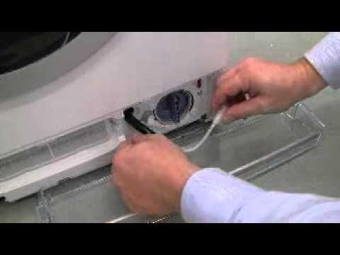 How do I clean the drain pump on my washing machine?
