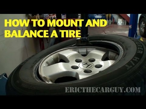 How To Mount and Balance A Tire -EricTheCarGuy