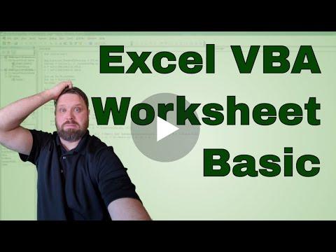 Excel VBA Worksheet Basics