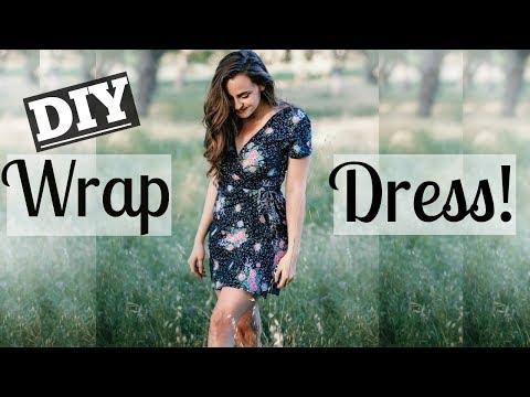 HOW TO MAKE A WRAP DRESS | (EASY!) feat. Grandma