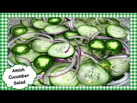 Amish Cucumber Salad Recipe ~ How to Make Easy Healthy Cucumber Salad