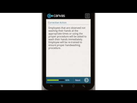 Canvas HACCP Washing Hands Sample SOP Mobile App