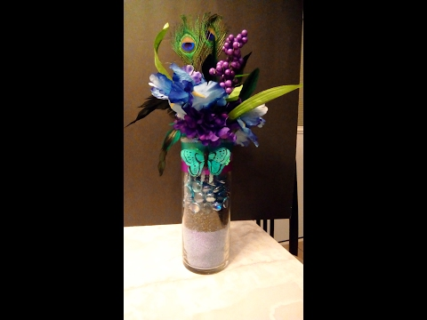 Peacock Wedding Centerpiece DIY Part 1/Month of Love Day 4