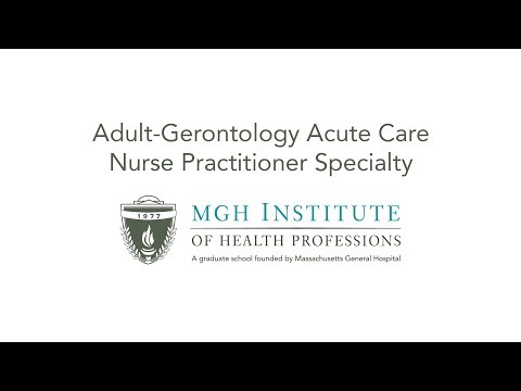Adult-Gerontology Acute Care Nurse Practitioner Specialty