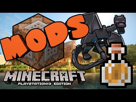 Minecraft PS3 MODDED Map Gameplay spawners ps3 stained glass glitches