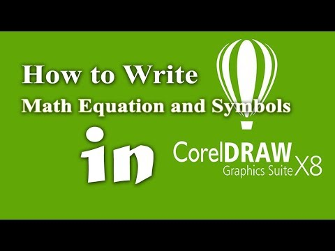 How to write math equation and symbols in CoreDRAW