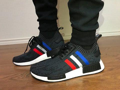 Adidas NMD Black Tri-Color Primeknit on feet review