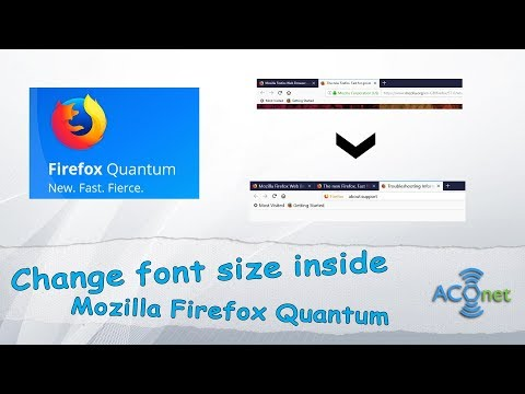 How to change font size in Firefox Quantum web browser