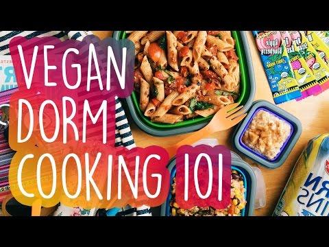 How To Be Vegan In College + Healthy Dorm Haul!