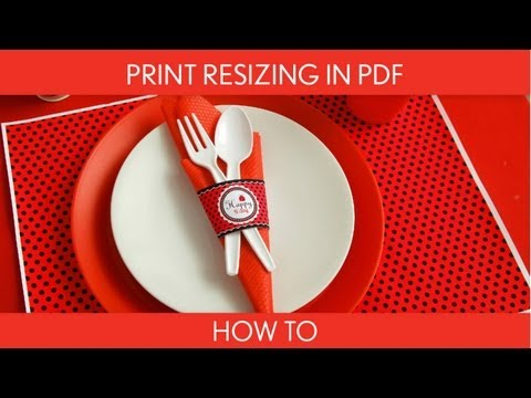 How to Make:  Print Resizing in PDF (Birthday Party) // B26