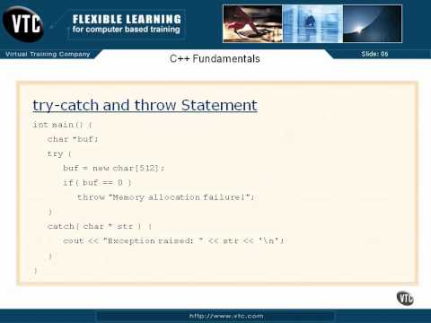 05  C++ Enums    28  try catch & throw Statements